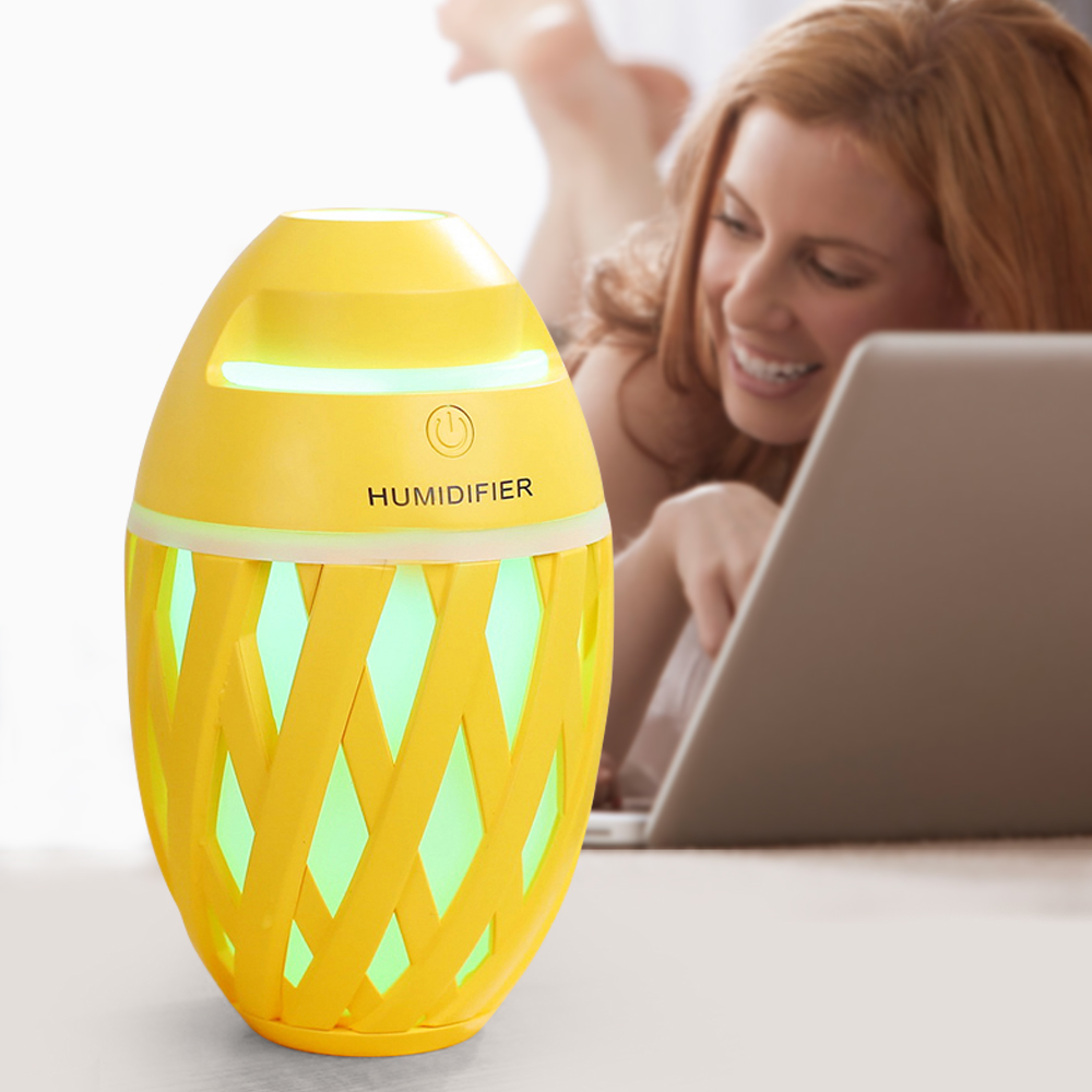 320ml Mini Air Humidifier USB Aroma Essential Oil Diffuser Cool Mist Maker LED USB Air Humidifier Aromatherapy For Office