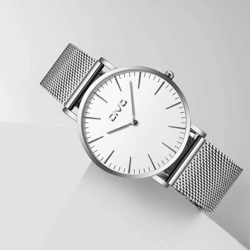 CIVO luxe mode montres étanche en acier maille sangle Quartz montres hommes Simple mince 6 MM argent montre-bracelet pour étudiant