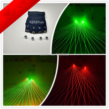Multi-function galaxy beams green Red Laser Gloves Dancing Stage Show Light With 4pcs lasers and 80 of No Exposed wire
