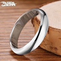 ZABRA 925 Sterling Silver Smooth Simple Wedding Couples Rings for Man or Woman Gift 5mm Wide Ring Wedding Band