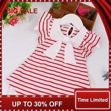 Baby Clothes 2018 Summer Children Clothing Dress Casual Stripe For Girl