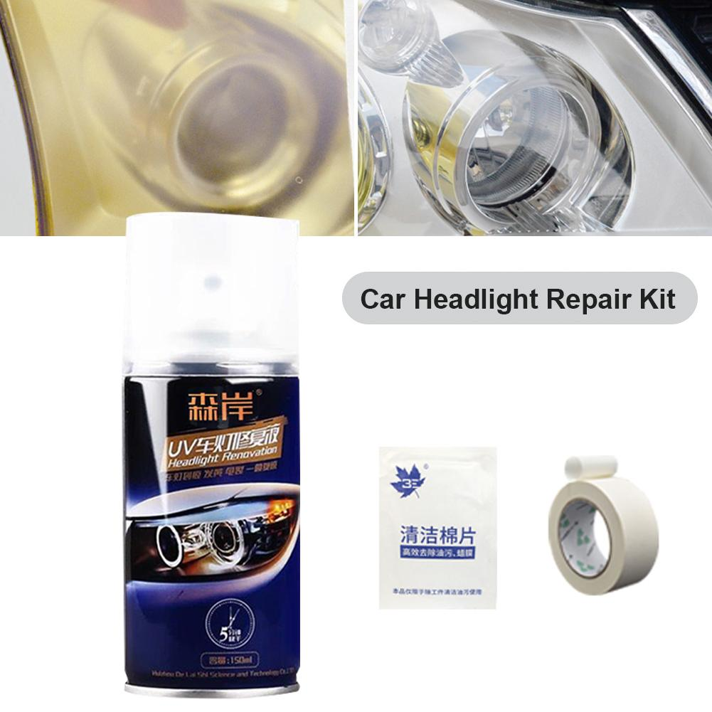 Professional 150ml Car Headlight Renovation Repair Kit 4h High Hardness Repair Spray Polishing Coat Repair