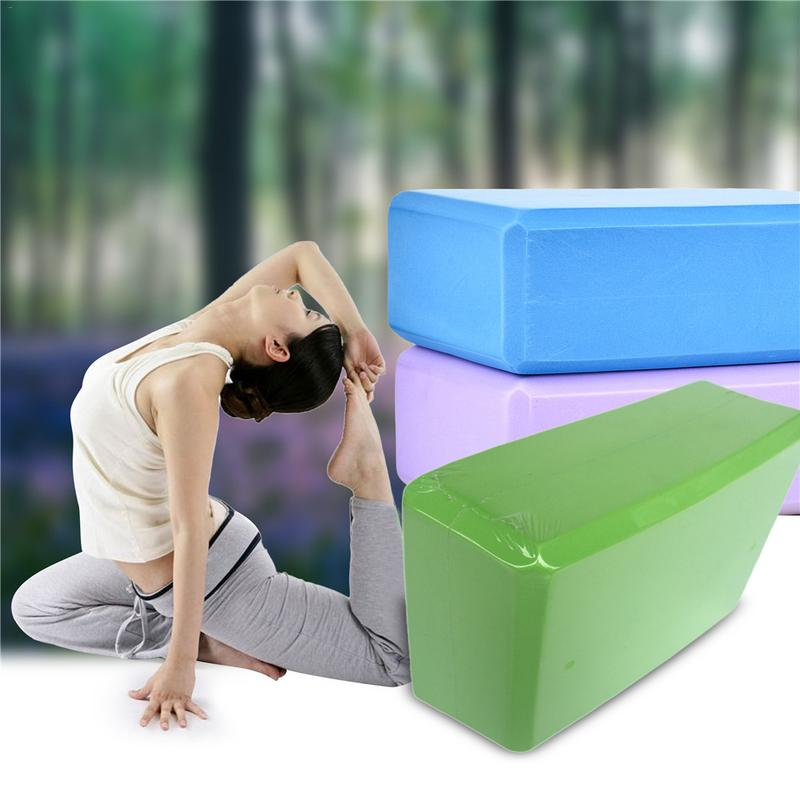 Eva Yoga Block Sports Exercise Gym Foam Block Workout Stretching Aid Body Shaping Health Training Tool For Family Fitness Yoga