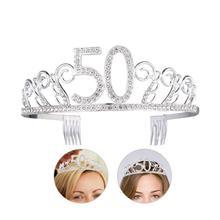 New Digital 50 Bride Crown Popular Hot Rhinestones High-Grade Crown Headdress Wedding
