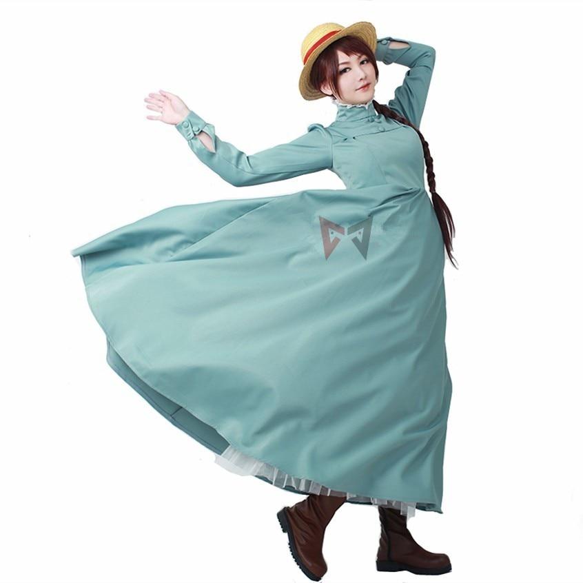 New Howl's Moving Castle Sophie Cosplay costume for Women girl adult Long Dress  carnaval   Halloween set