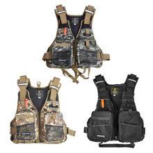 Рыболовный жилет с многофункциональными карманами, регулируемый размер, сетчатый рыболовный рюкзак, Куртка для рыбалки, плавающая VestZ50