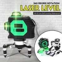 12 линий 3D Лазерные уровни Professional Lasers Beam Vertical 360 горизонтальные самонивелирующие кросс измерительные строительные инструменты