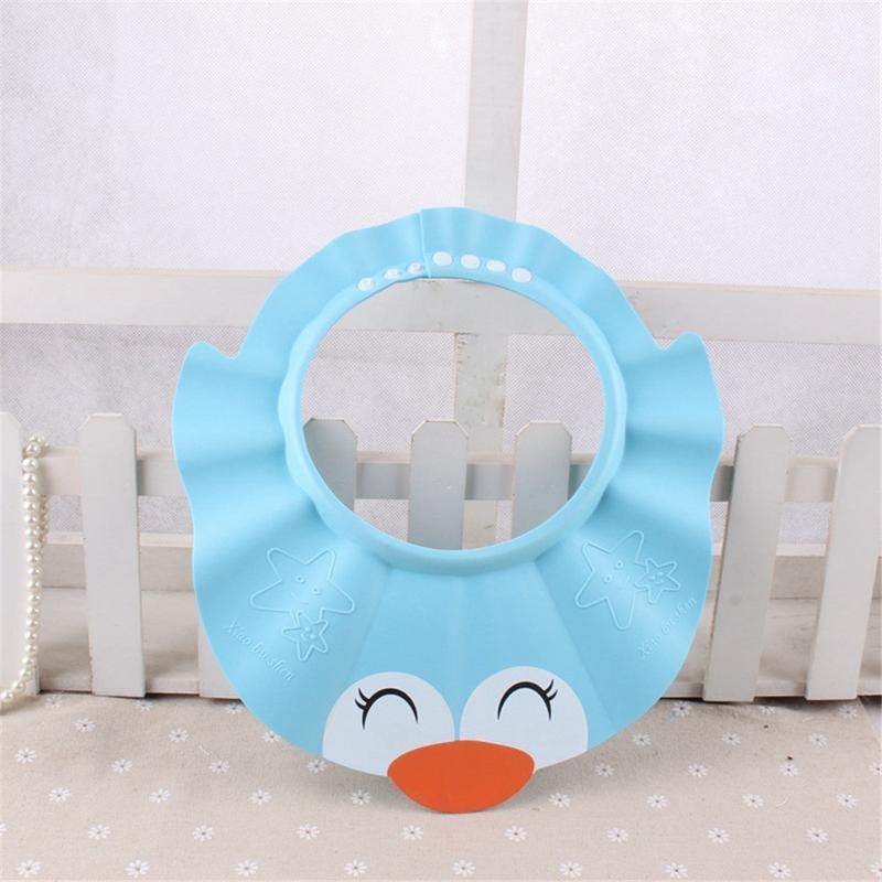 Baby Shower Size Adjustable Cap Children Shampoo Bath Wash Hair Shield Hat Bathing Bebes Cartoon Pattern Protector Baby Care