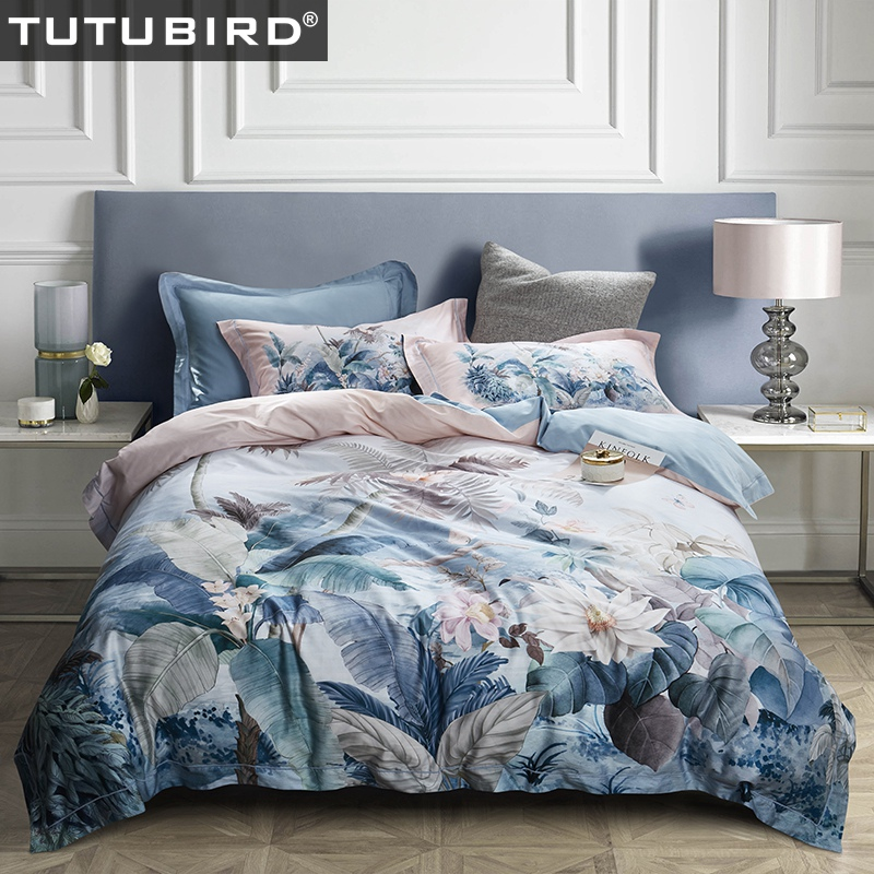 TUTUBIRD European Egyptian cotton bed linen Soft Satin bedding floral pastoral duvet cover queen king size 4pcs setsTUTUBIRD European Egyptian cotton bed linen Soft Satin bedding floral pastoral duvet cover queen king size 4pcs sets