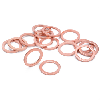 15pcs/set M10 Copper Sealing Washer Gasket Sump Plug Oil HEL Motorcycle Bike Car Brake Line Banjo Bolt Copper Crush Washers image