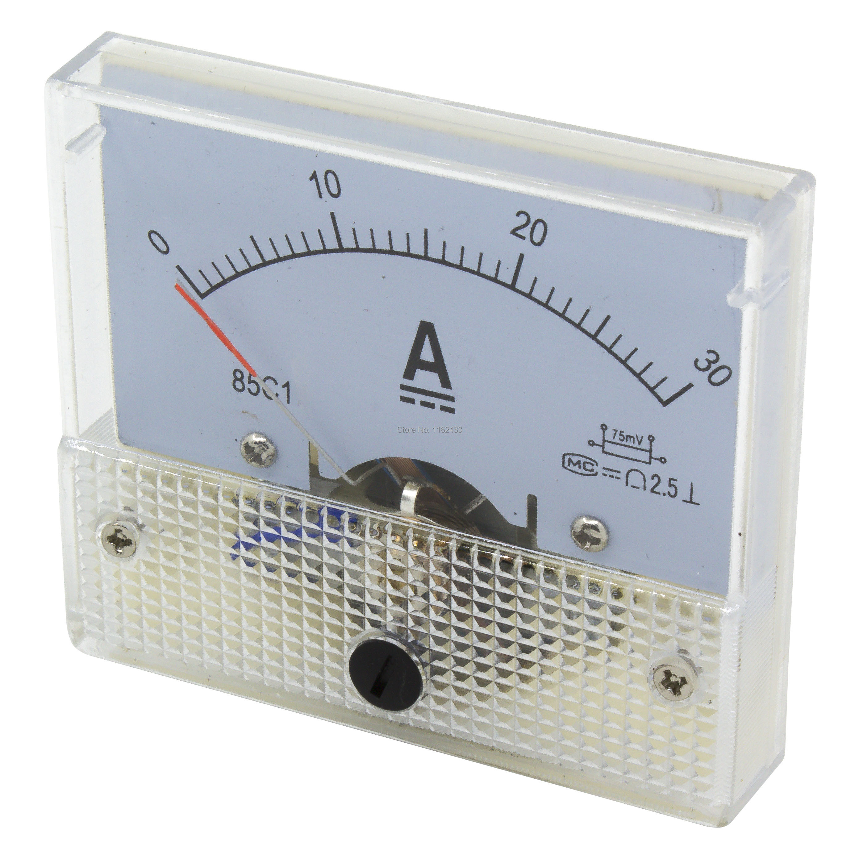 85C1-A <font><b>DC</b></font> pointer ammeter current meter 15A 20A 30A 50A 75A <font><b>100A</b></font> 150A 200A 300A need shunt 85C1 analog AMP meter 64*56 mm size image
