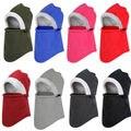 Winter Beanie Hat Scarf Set Fleece Warm Balaclava Snow Ski Cap for Kid Men Women Creative Snow Cap Mask