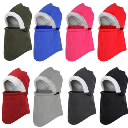 Winter Beanie Hat Scarf Set Fleece Warm Balaclava Snow Ski Cap For Kid Men Women Creative Snow Cap Mask