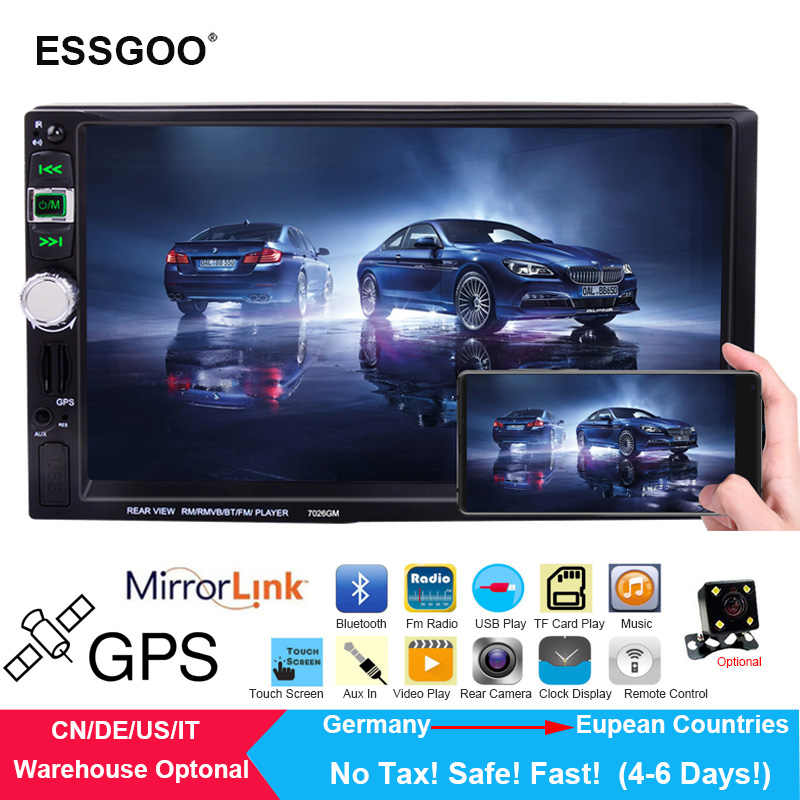 "Essgoo 2 din car radio 7"" MP5 Auto Car audio Autoradio Bluetooth USB 2din Multimedia Player 2018 EU Free Map 2017 Russia Navitel"