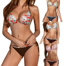 Floral Print Bandage Bikini
