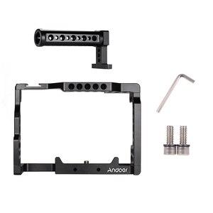 Image 5 - Andoer Camera Cage + Top Handle Kit Video Stabilizzatore Lega di Alluminio W/Fredda Shoe Mount per Sony A7II/ a7III/A7SII/A7M3/A7RII Macchina Fotografica