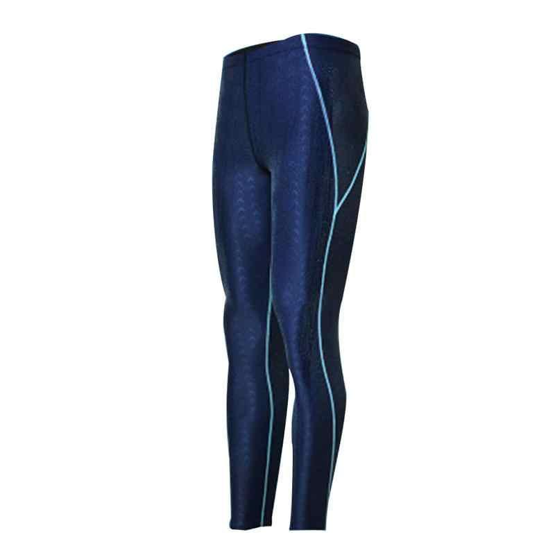 Mannen Lange Badmode Athletic Triathlon Panty 2019 Plus Size Arena Bader Shark skin Fitness Zwemmen Duik Surf Workout Broek