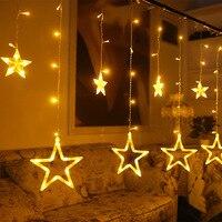 LED Lights Flashing Lights String Lights Ice Cream Bar Curtain Light Festival Christmas Wedding Five Pointed