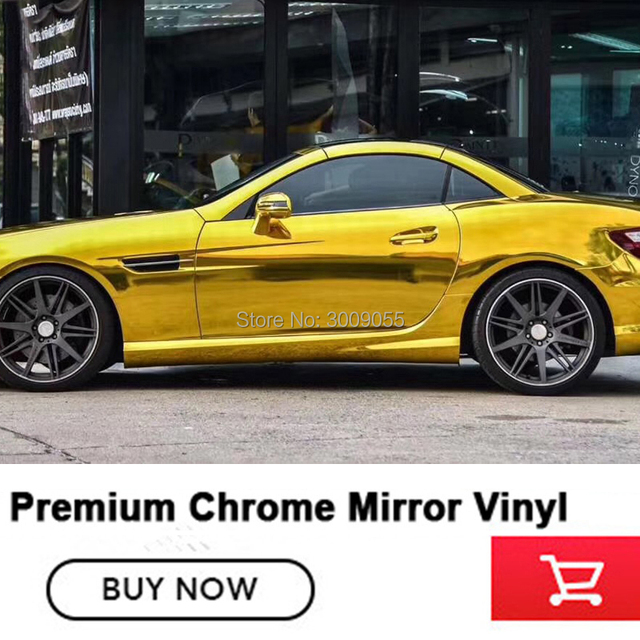 5x65FT OPLARE gold  Chrome Vinyl Wrap Film  Auto Mirror Vinyl Wrap Film Car Sticker Decal Sheet Various colors Multiple quality