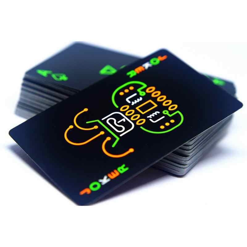 Free Shipping Black Luminous Fluorescent Poker Cards Playing Card Glow In The Dark Bar Party KTV Night Luminous Collection