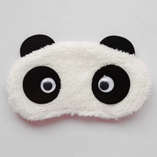 1pc Cute Panda Sleep Mask Eye Shade Cartoon Blindfold Shading Sleep Goggles sleeping Aid  Eyeshade Relax eyepatch dropshipping ice eyeshade sleep mask shading breathable goggles men and women cute expression ice pack eye protective antifaz para dormir