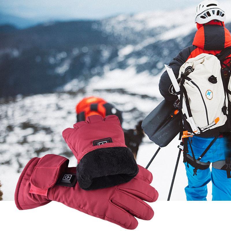 Gants chauffants électriques rechargeables imperméables gants chauffants à écran tactile pour femmes avec batterie