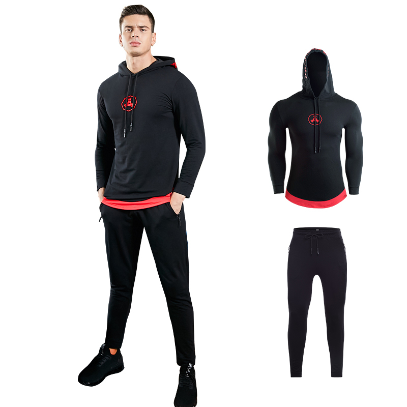 Hoodie Jackets workout Clothes Suits Men's Gym training Fitness sportswear Running jogging Sports clothing Tracksuit Dry Fit