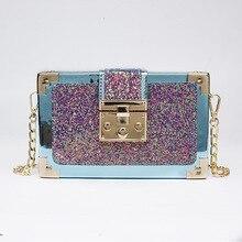 New Style Handbags Korean-Style Fashion Sequin Small Bags Tide Cool Versatile One-Shoulder Crossbody Bag Charming Chain Bag Fema