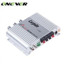 Onever автомобильный усилитель мини Hi-Fi 2,1 канальный стерео плеер Мини компьютер автомобильный усилитель сабвуфер усилитель LP-838