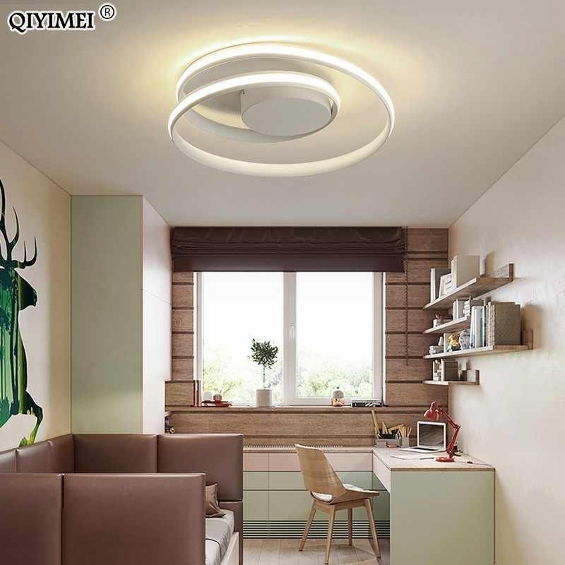 Современные потолочные светильники, светодиодный светильник для гостиной, спальни, кабинета, белый, черный цвет, Потолочная люстра, деко AC85-265V
