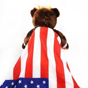 "Image 4 - 60cm דונלד טראמפ דוב בפלאש צעצועי מגניב ארה""ב נשיא דוב עם דגל חמוד בעלי החיים דוב בובות טראמפ בפלאש ממולא צעצוע ילדי מתנות"