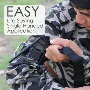 Image 5 - 1 pz Laccio Emostatico Sopravvivenza Tattica di Combattimento Applicazione Punta Rossa Military Medical GATTO Cintura Di Emergenza di Soccorso per Esplorazione Allaperto