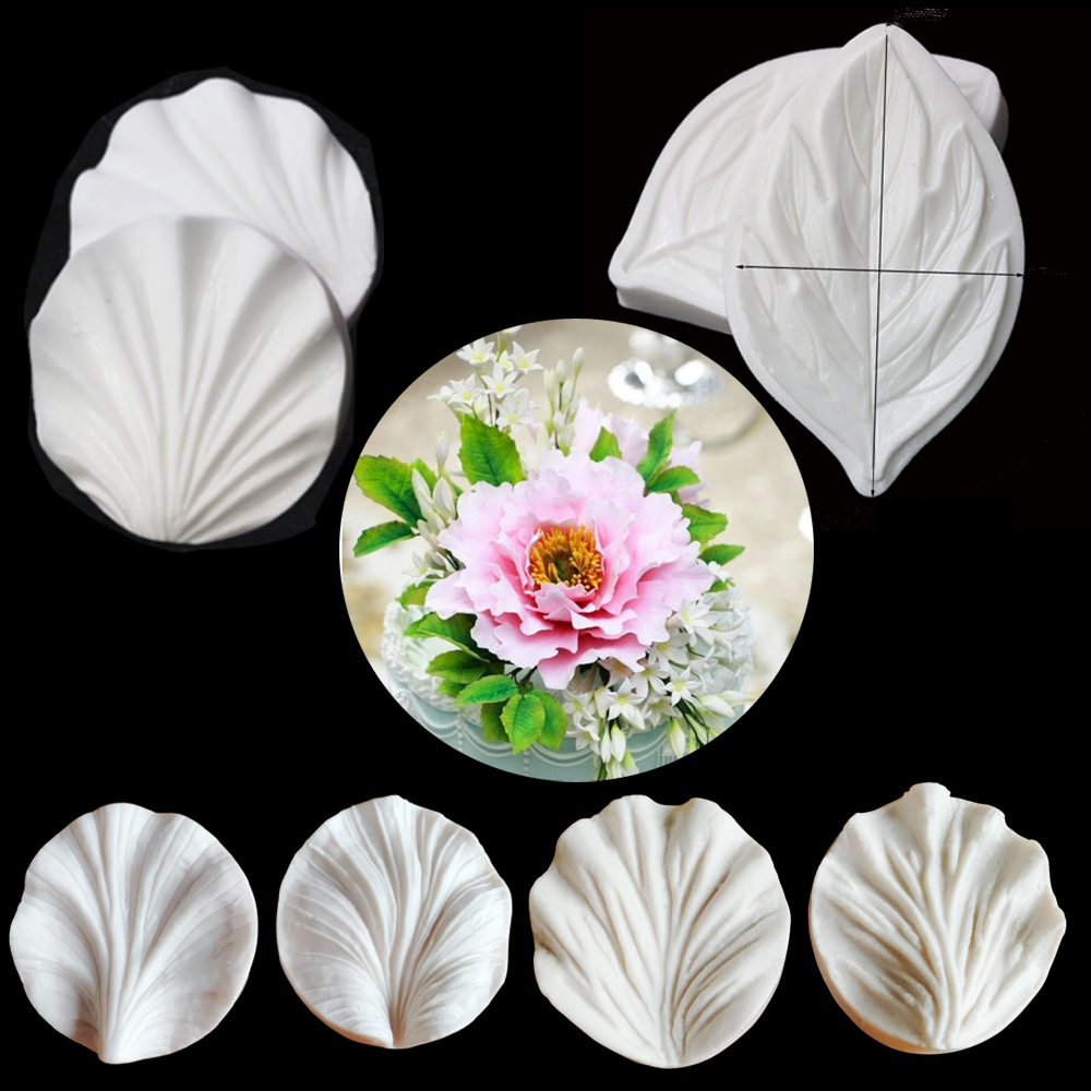Peony Petal and Cutter Silicone Mold Fondant Mould Cake Decorating Tools Flower Gumpaste Resin Clay Sugarcraft Flower MouldsC334
