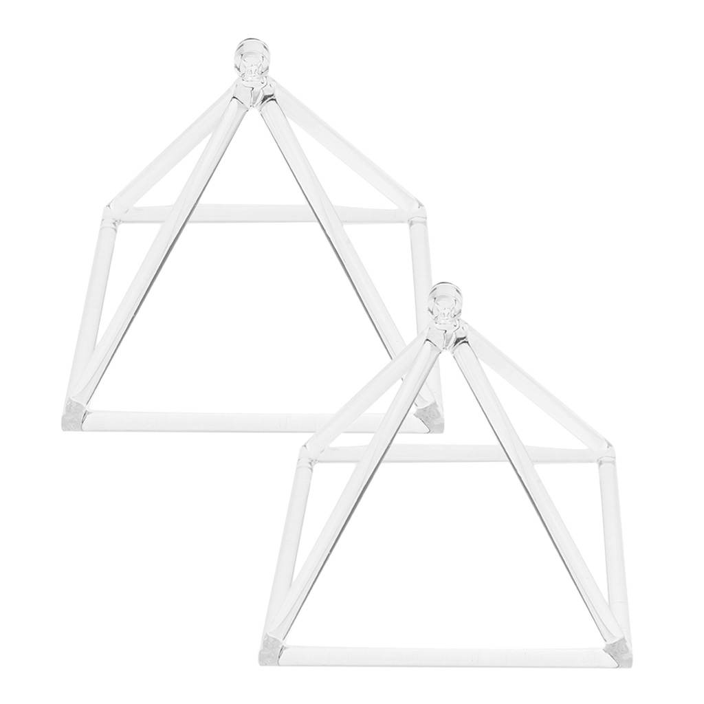 2PCS Quartz Crystal Singing Pyramid C Note Root Chakra for Relaxation Sound 6inch 8inch in Bells Chimes from Sports Entertainment