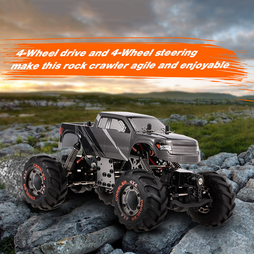 RC Car Kids Toys 2098B 1 24 2 4GHz 4WD 4WS Devastator Rock Crawler RTR with