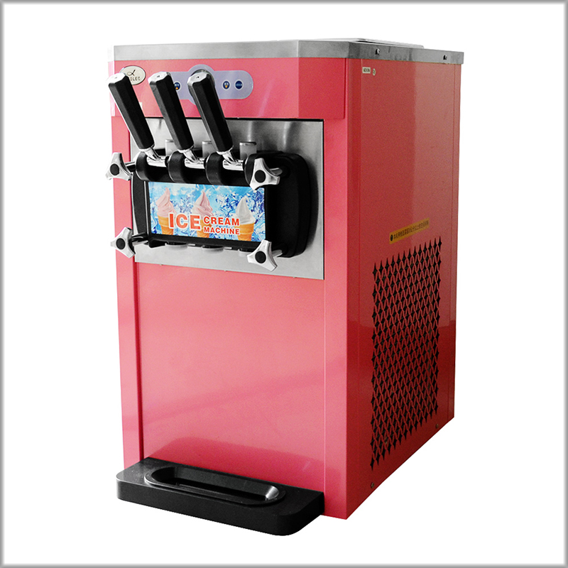 XEOLEO Mini 3 Flavors Ice cream maker 1200W Soft Ice cream machine 12L H Green Pink