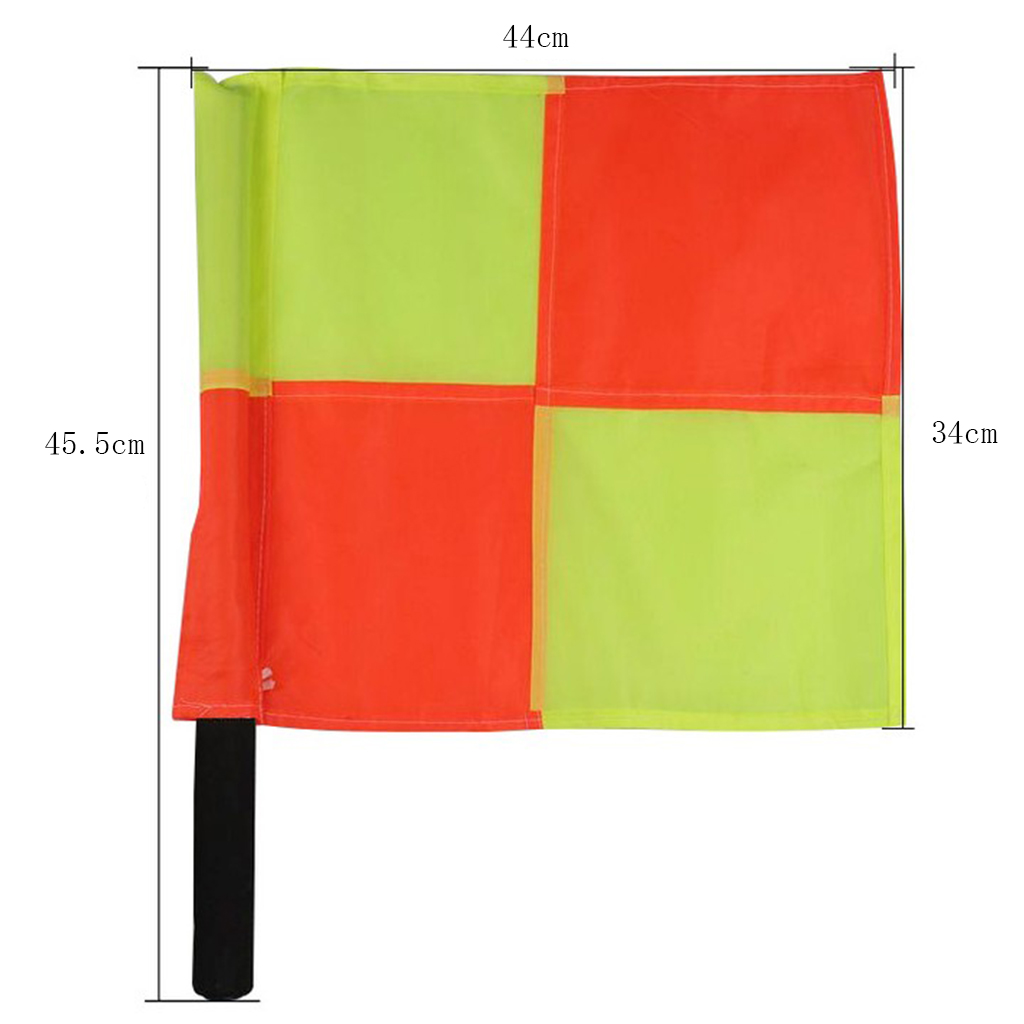 1pcs Referee Flags For Indoor Outdoor Sports Games With Carry Case And Sponge Handle, Lightweight And Portable
