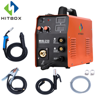 HITBOX Mig Welder MIG250 MIG TIG ARC Welding Machine Gas No Gas Self shielded Mig Welding MIG ARC Welder