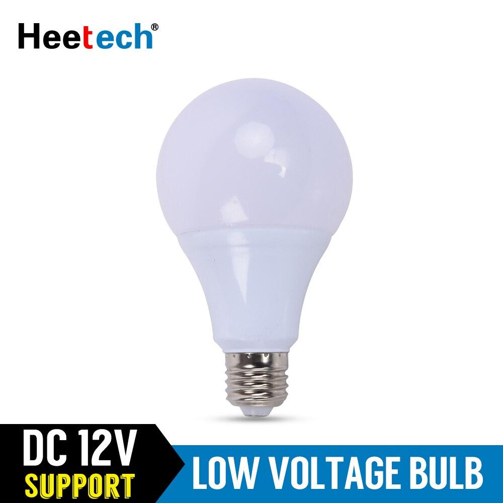 Bombilla LED E27 cc 12 V lámparas LED 3W 5W 7W 9W 12W 15W 36W lámpara Led 12 voltios bombillas de bajo voltaje iluminación campo al aire libre Lámpara LED de noche con Sensor de movimiento PIR, lámpara LED de noche, lámpara de techo para sala de estar