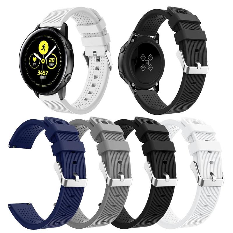 Watchband Bracelet Wrist for Samsung Galaxy Watch Active 20mm Sport Soft Silicone Watchband Bracelet Wrist Strap Replacement