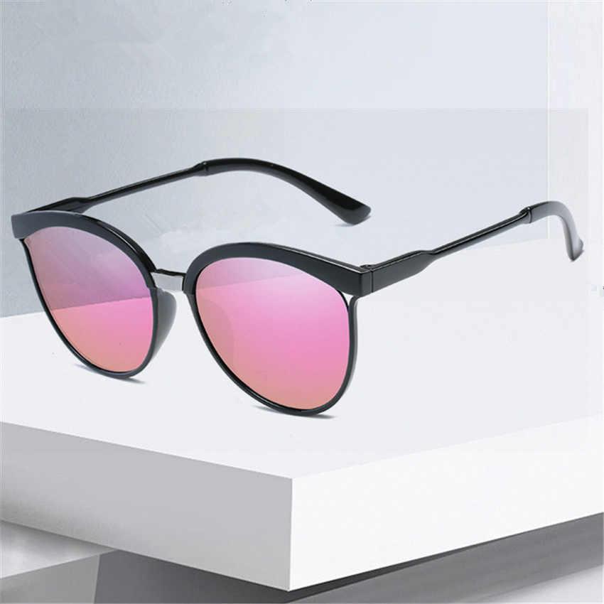Cat Eye Sunglasses Women Fashion Retro Brand Designer Sunglass Men Vintage Cheap  Circle Glasses Mirror shades 39d49139c8