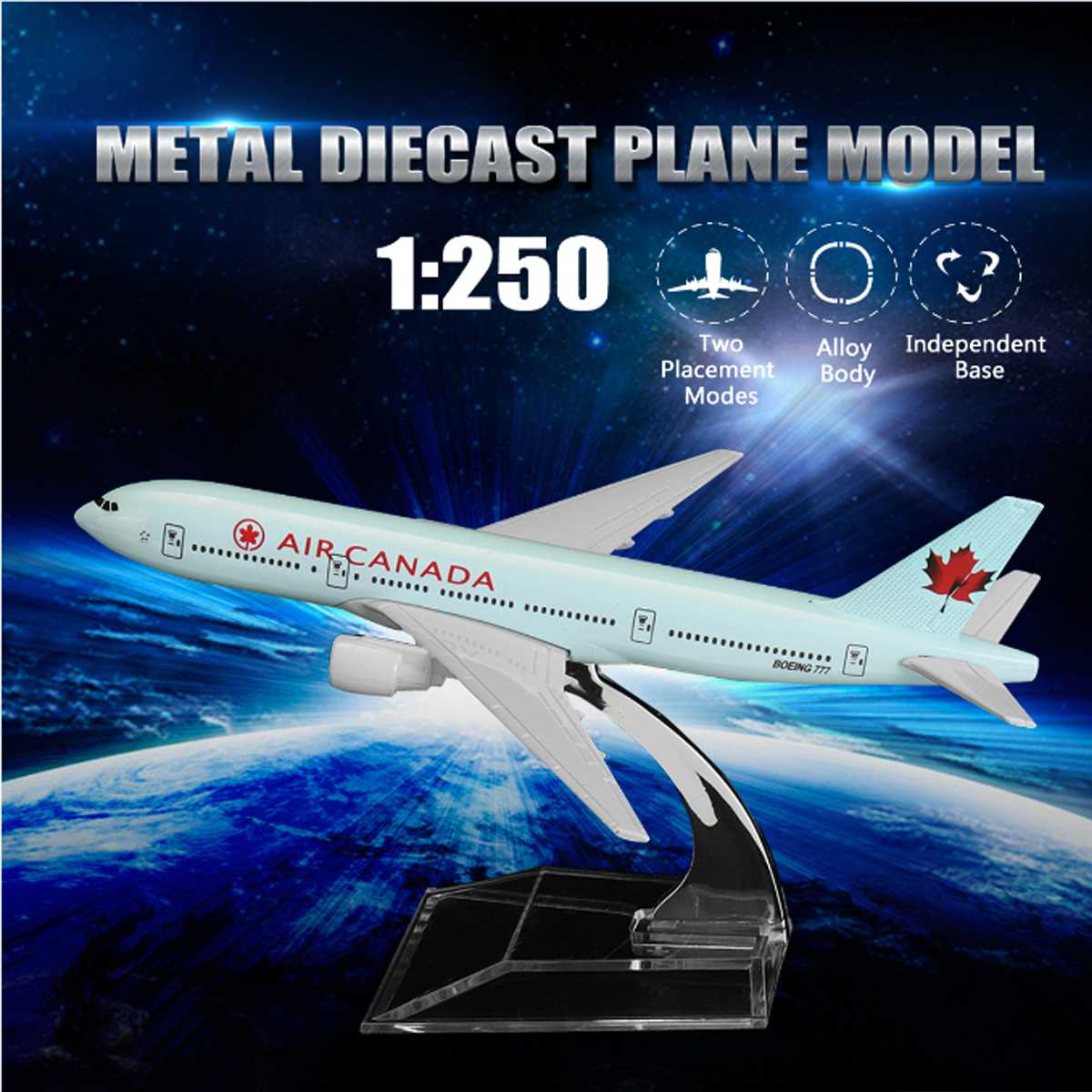 16CM Metal Diecast Plane Model Aircraft Boeing Airlines Aeroplane Desktop Toy