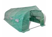 VidaXL Portable Steel Frame Greenhouse 18m² Warm Garden Tier Cover Walk In Household Plant Greenhouse Tent Protect Plant Flowers