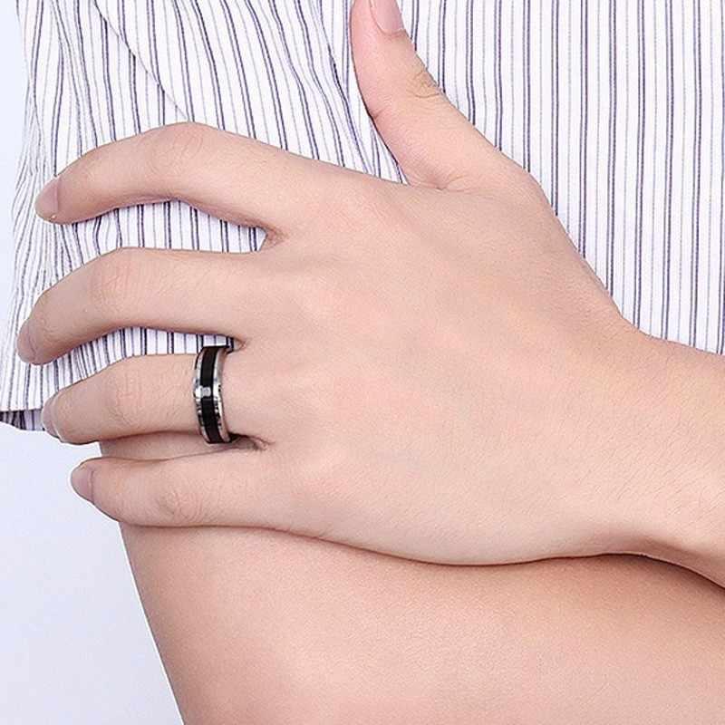 ผู้ชาย 6MM ทังสเตนคาร์ไบด์สีดำเคลือบแหวน