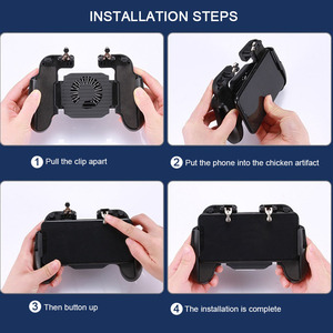 Image 5 - Pubg Controller L1R1 Shoote Pubg Gamepad Mobiele Game Controller Jongen Trigger Controle Joystick Voor Iphone Android Met Ventilator