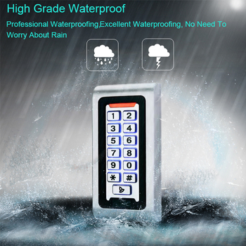 RFID Door Access Control System IP68 Waterproof Metal Keypad 125KHz Proximity Card Standalone Access Control With 2000 Users цена 2017