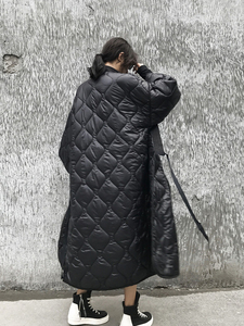 Image 5 - LANMREM 2020 New autumn And Winter Japan Styles Batwing Sleeves Loose Big Size Cotton padded Coat Women Windbreaker JD18601