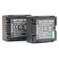 2 PC CGA CGR DU06 DU07 batterie rechargeable batteries pour Panasonic CGR-DU06 CGR-DU07 VSB0470 VW-VBD070 VWVBD070
