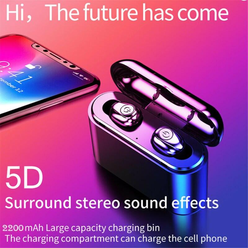 TWS Wireless Earbuds Mini True Bluetooth 5.0 Stereo Earphone Bass In-Ear Headset IPX7 Sport Earphones with charging boxTWS Wireless Earbuds Mini True Bluetooth 5.0 Stereo Earphone Bass In-Ear Headset IPX7 Sport Earphones with charging box