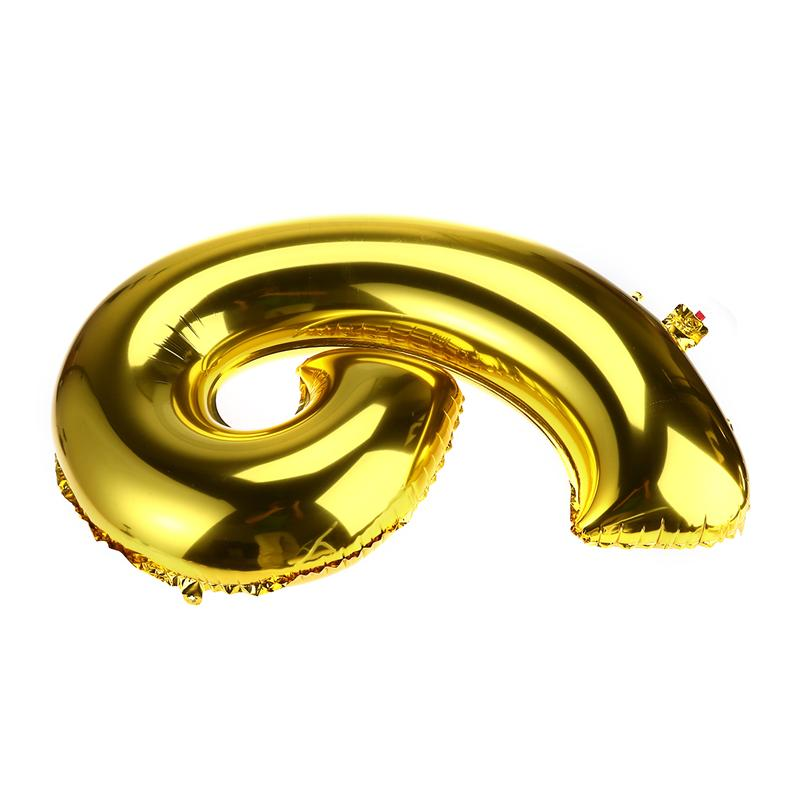 32 inch Thickened Helium Foil Balloons Birthday Number Balloons 9 for Wedding Anniversary Decoration (Gold) - 3